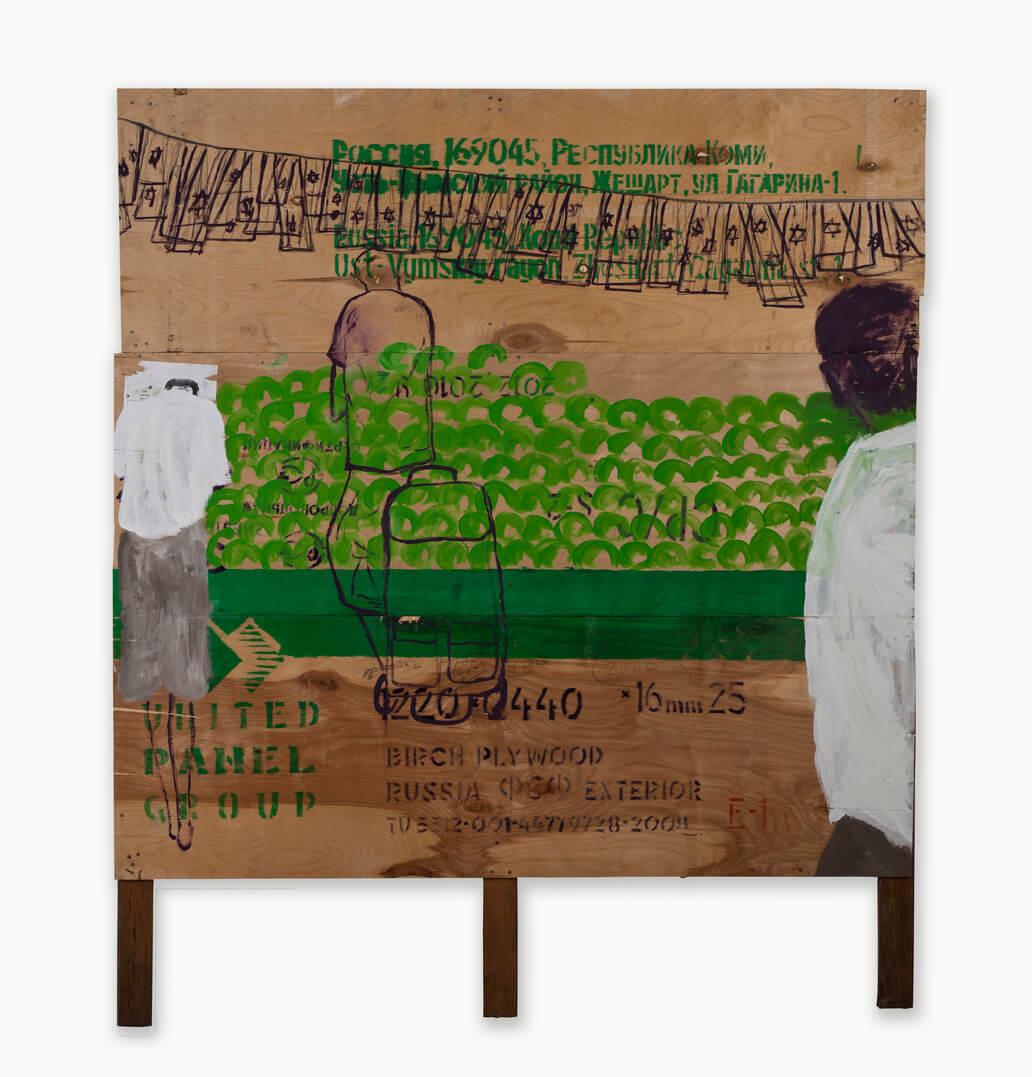 Untitled 2011 Acrylic on plywood 123X123