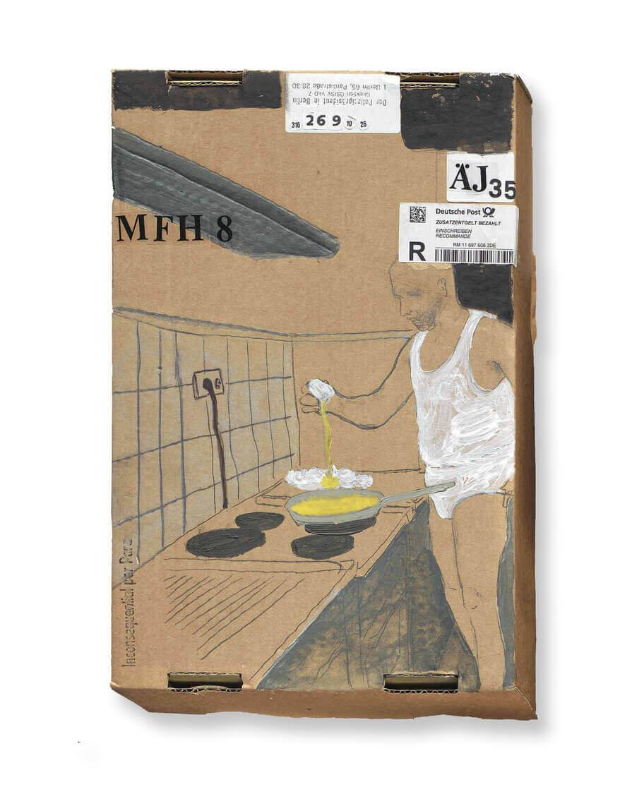 2013 mixed technique on carton box 24X36