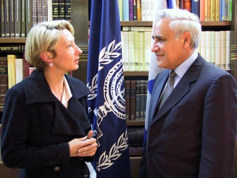 Annette Grossbongardt with Israel's President Moshe Katzav