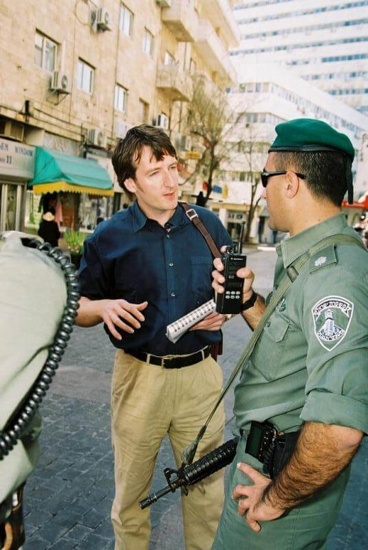 Matt Rees of TIME interviews a border policeman