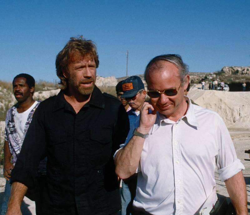 TIME Bureau Chief and former FPA chairman Bob Slater with actor Chuck Norris