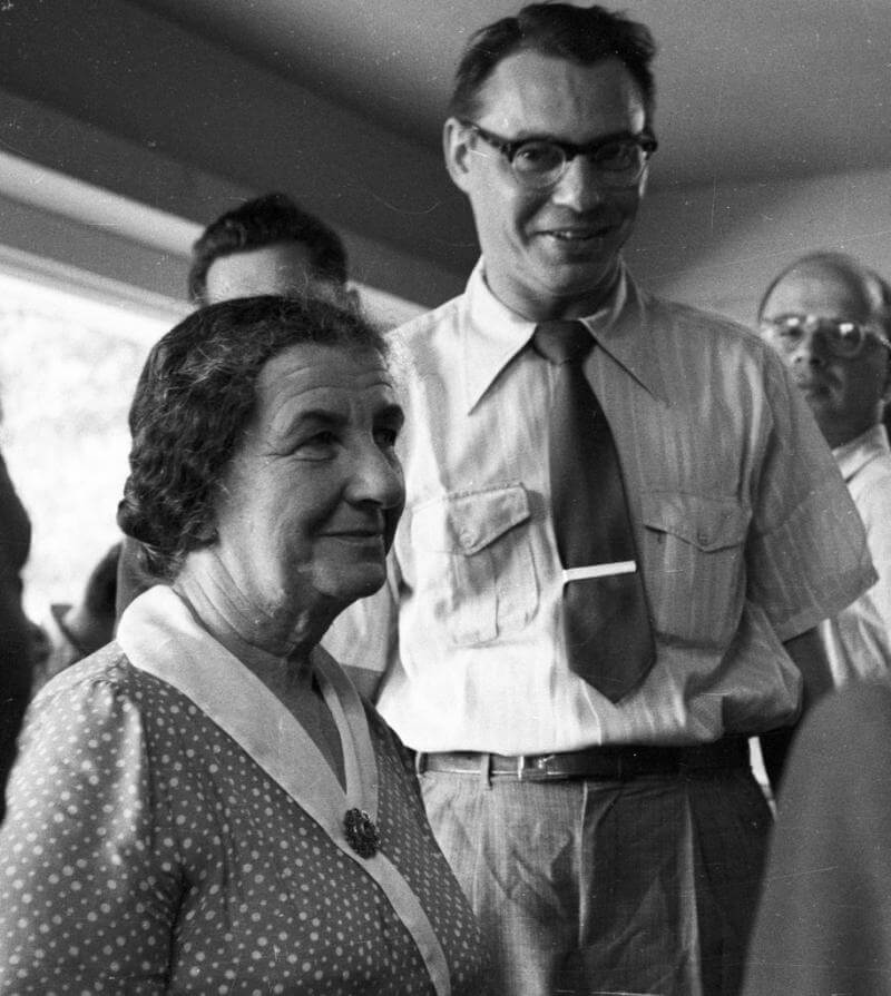Marlin Levin, TIME correspondent and former FPA Chairman with Golda Meir