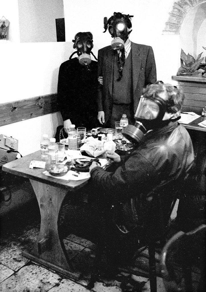 France 2 Jerusalem Bureau during the 1st Gulf War.