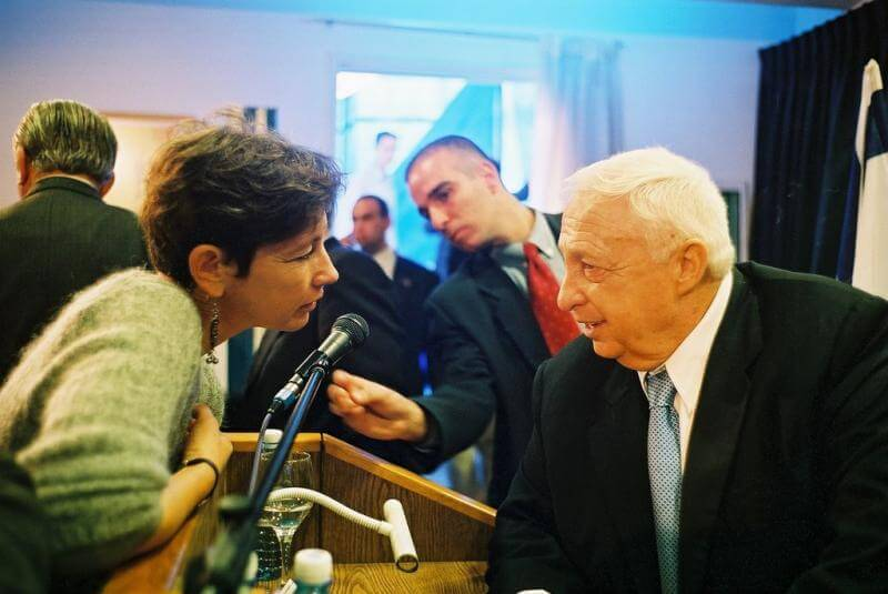 Hanne Foighel ( Politiken) and Ariel Sharon