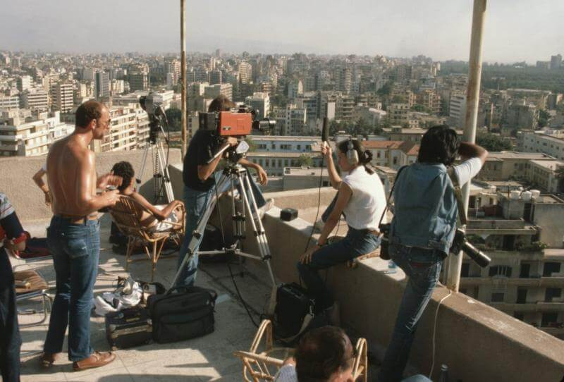 Covering the Beirut was from the comfort of the Alexander Hotel roof
