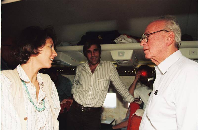 Hanne Foighel with PM Yizhak Rabin