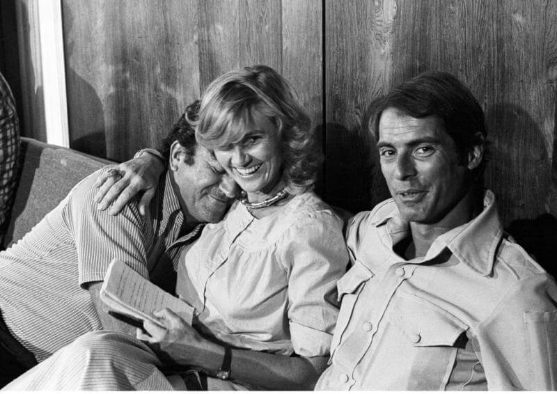 The three major networks in brotherly love: Bill Seamans, Hillary Brown and Bob Simon