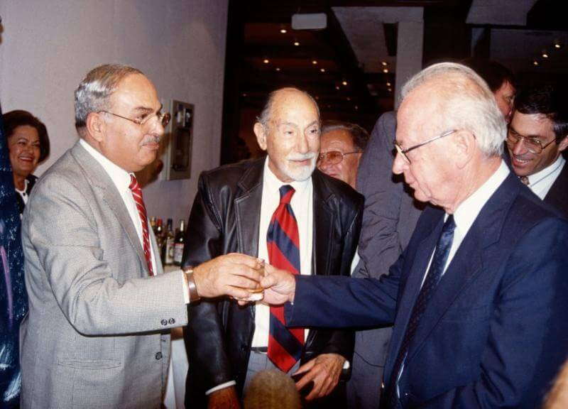 Jamil Hamad, Lazar Bianco and Yizhak Rabin