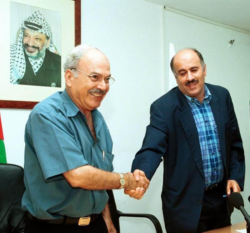 Jamil Hamad with Jibril Rajoub