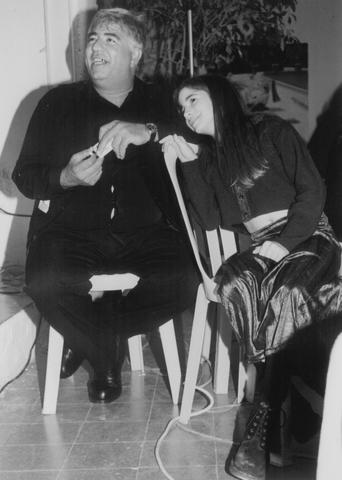 יוסי ג'ינו וביתו הצעירה נועה