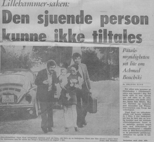 יוסי ג'ינו מימין, נשלח לסייע לאחר פרשת ליליהאמר בנורווגיה