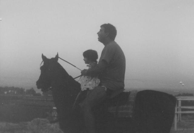יוסי ג'ינו עם ביתו הצעירה נועה