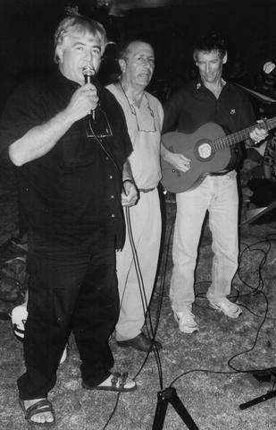 משמאל: יוסי ג'ינו, פופי צדקה וגלי רווה