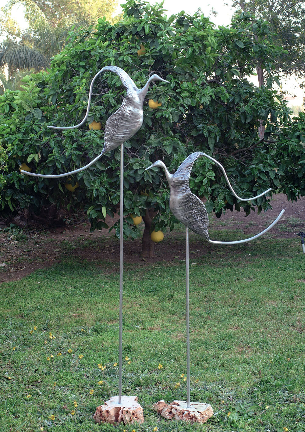 30. Couple of Birds | Aluminum | 164x130 cm. 65x51 in.