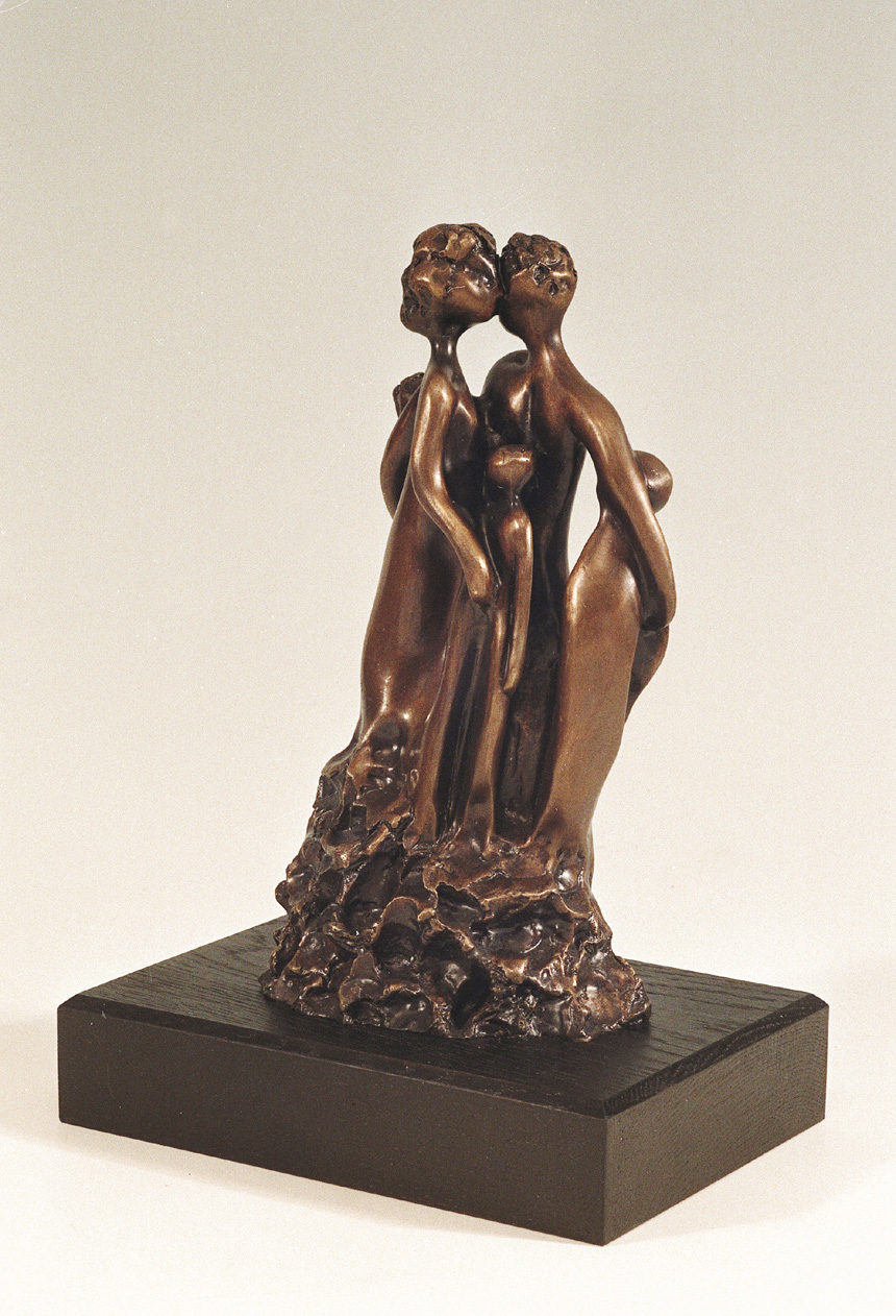 12. Togther  | Bronze | 27x14 cm. 11x5 in.