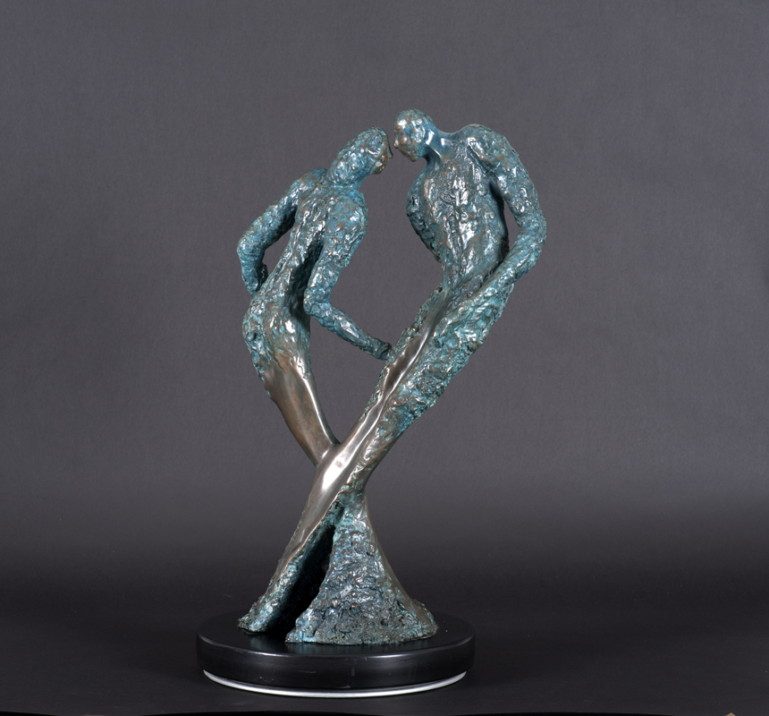 22. Dancing Couple  | Bronze | 70x40 cm. 28x16 in.