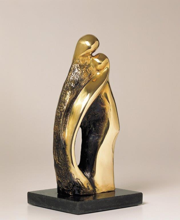 18. A Hug  | Brass | 30x14 cm. 12x5 in.